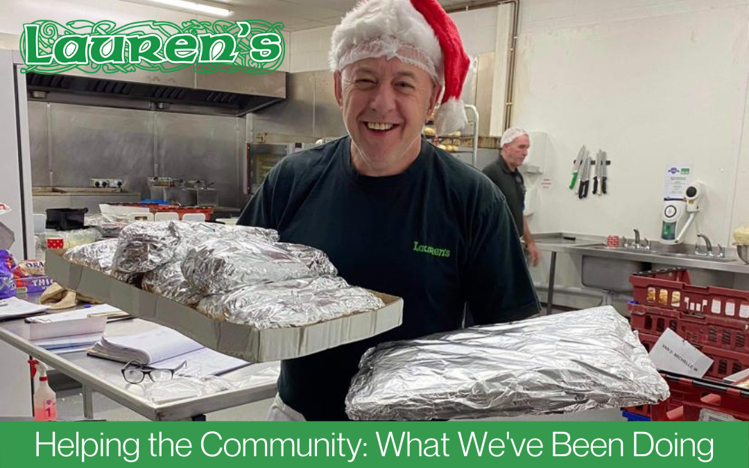 Lauren's Catering January 2021 blog - Helping the Community